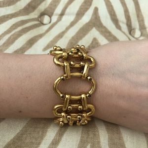 J.Crew Gold Chunky Link bracelet with Clasp